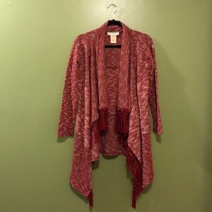 Red Flying Tomato Knitted Cardigan- Small
